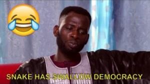Video: Nigerian Comedy Clips - Snake Has Swallow Democracy